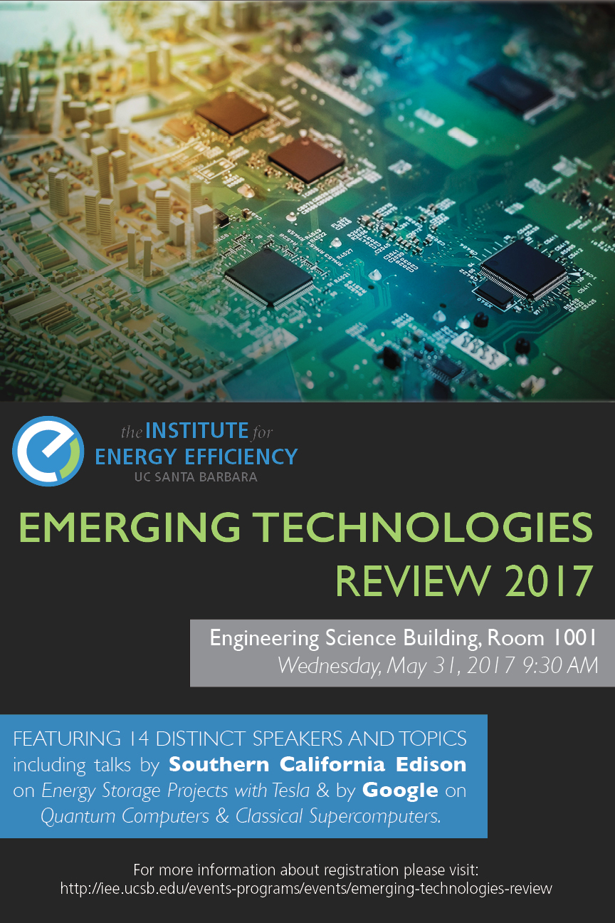 emerging technologies review flyer